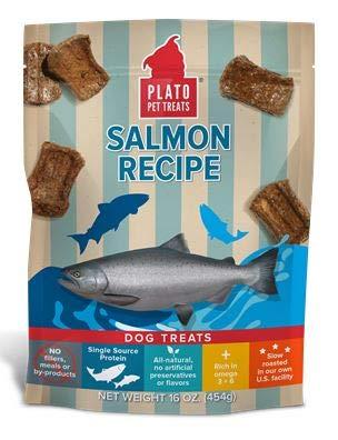 Plato Salmon Strip Dog Treats (4 Pack)