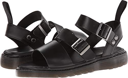 Dr. Martens Men's Gryphon Gladiator Sandal, Black, 10 UK/11 M US ()