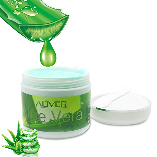 Natural Aloe Vera Gel Cream,Aliver ALOE-GEL Firming Replenishment Moisturizing Cream Anti - Aging Wrinkles Collagen Whitening Care (Vera Gel Aloe Seaweed)