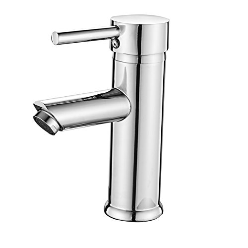 (Greenspring Single Handle Bathroom Sink Faucet One Hole Deck Mount Lavatory Faucet Stainless Steel ,Chrome Finish)
