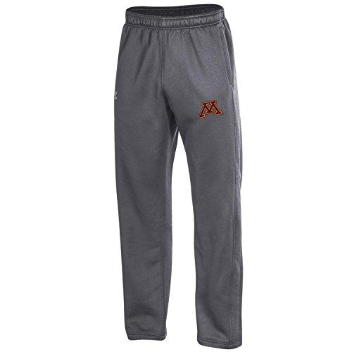 Under Armour NCAA Minnesota Golden Gophers Adult Men's Fleece Pants, Medium, Carbon (Minnesota Golden Gophers Apparel)