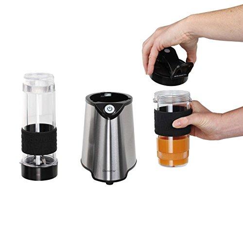 Acero inoxidable batidora con 2 botellas cierre para beber (Smoothie maker (Blender, batidora, picadora, 300 W, leche Coctelera, Negro): Amazon.es: Hogar
