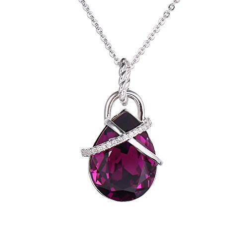 Xuping Cyber Monday Christmas New Arrival Jewelry Crystals from Swarovski Women Necklace Pendant With Chain Girl Gift (Amethyst)