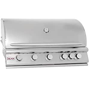 """40"""" 5-Burner Built-In Gas Grill with Rear Infrared Burner Gas Type: Natural"""
