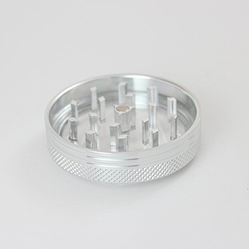 Sharp Stone Official Authentic 2 Piece Grinder Clear Top 2.2 Inches Silver + Free Performance Technology Wrist Band