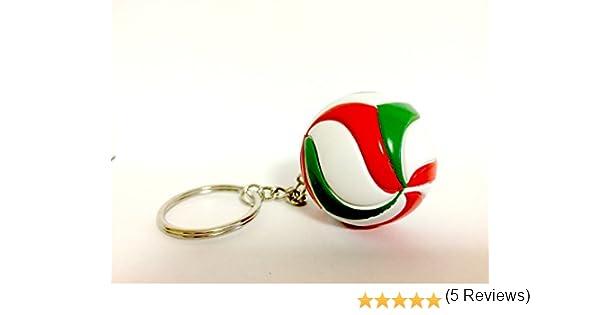 Bkstuff Llavero Voleibol Bola Verde Blanco y Rojo gadged Equipo ...