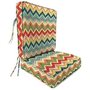 Jordan Manufacturing Spun Polyester Culloden Fiesta Deep Seat Chair Cushion