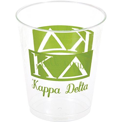 Creative Converting 8 Count Plastic Kappa Delta Printed Tumblers, 10 oz, Clear/Green