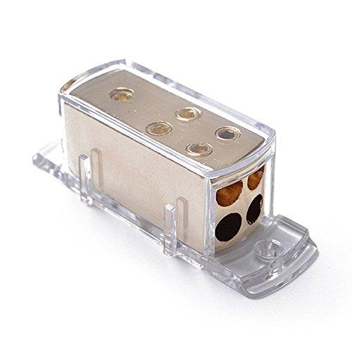 Meiyiu 4-Way Car Audio Solar Amp Power/Ground Cable Splitter Distribution Block 4ga