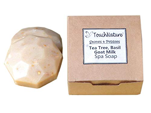 Touch Nature 2 pc 50g Goat Milk Soap with Tea Tree and Oatmeal. Natural Handmade Soaps. No Parabens, No Sulphates, Cold Pressed, Vegan Soap. For eczema and sensitive skin. Anti-itch, Anti-rash ()