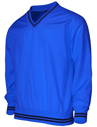 BCPOLO Men's Windshirt V-Neck Wind Shirt Wind Shirt Windbreaker Shirt Golf Shirt US X-Large(Asain 2XL) Blue -