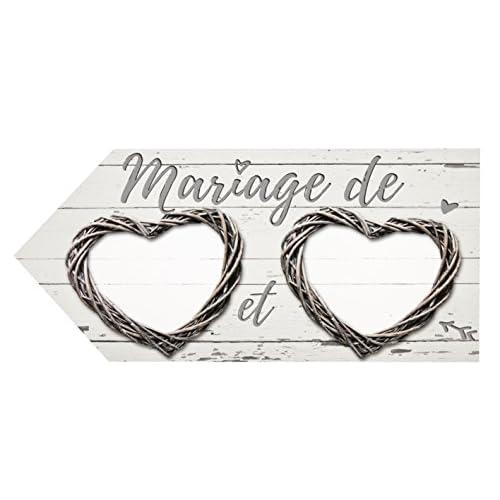 Grande Flèche directionnelle mariage Romantica naturelle