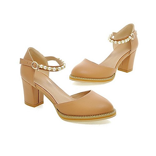 Pumps B Shoes Bead M Apricot Pointed Material 1TO9 US 5 Toe Soft Womens 6 q6w7ZP0