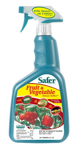 Safer Brand Fruit and Vegetable Insect Killer Ready to Use 24 Ounces 5124 (Insecticidal 24 Ounce Soap)