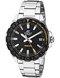 Men's Edifice Quartz Stainless-Steel Strap, Silver, 21 Casual Watch (Model: EFV-120DB-1AVCR)