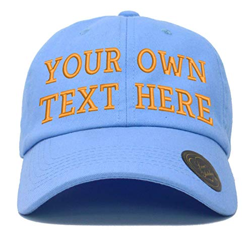 (Love Sketches Custom Embroidered Classic Polo Style Baseball Cap Adjustable Men Women Low Profile Dad Cap Hat (Sky Blue))