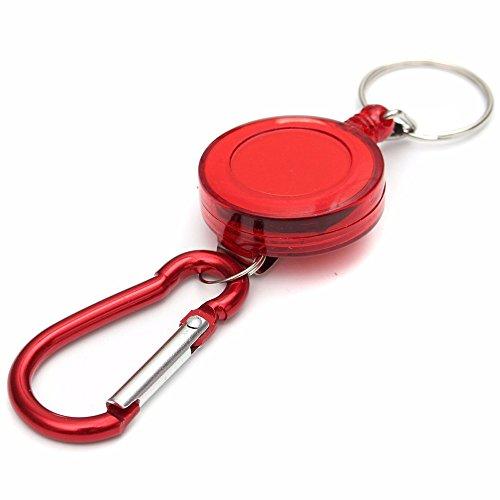 Retractable Key Chain Badge Reel - Recoil Carabiner Quick Link Lock Buckle - Multipurpose 1PCS -