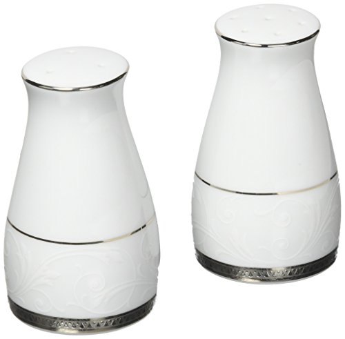 Noritake Regina Platinum Salt & Pepper Shakers