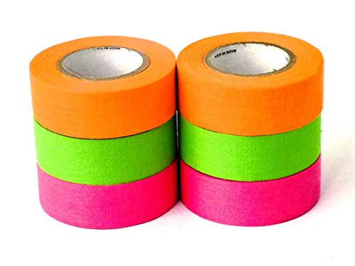 Mylec Tape (6 Pack), Neon Orange/Neon Green/Neon Pink