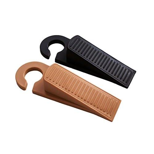 Door Stopper 2 Pack, Decorative Door Stops With Hooks, Rubber Door Wedges,  Flexible