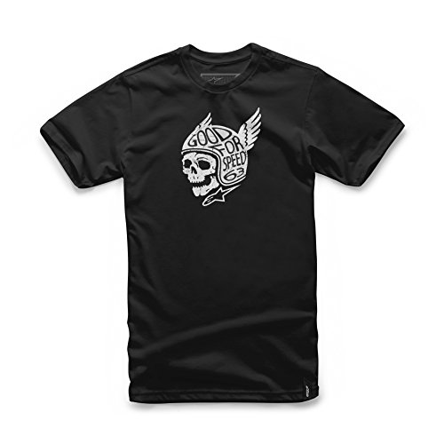 Alpinestars Men's Modern Fit Short Sleeves 146 GSM Motorsports Heritage T-Shirt, Demon Black, M