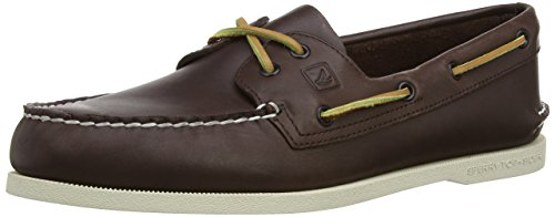 Sperry A/O 2-Eye Leather 0195214 - Mocasines de cuero para hombre Marrón (Braun)