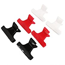 Pack of 6 Butterfly Hairdresser Clamp Salon Hair Color Perm Section Clips Grips Black Red White