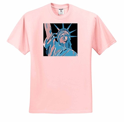 Andy Warhol Collection (Tory Anne Collections Art - ANDY WARHOL INSPIRED STATUE OF LIBERTY - T-Shirts - Adult Light-Pink-T-Shirt Large (ts_235302_36))