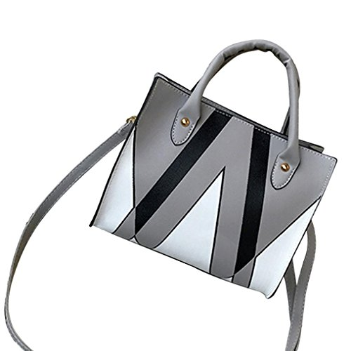 Clearance! Woman Tote Bag, Neartime 2018 Casual Patchwork Zipper Bags Crossbody Bag Leather Handbag Shoulder Bag (25cm(L)×21cm(H)×12cm(W), - Signature Bag Satchel Patchwork