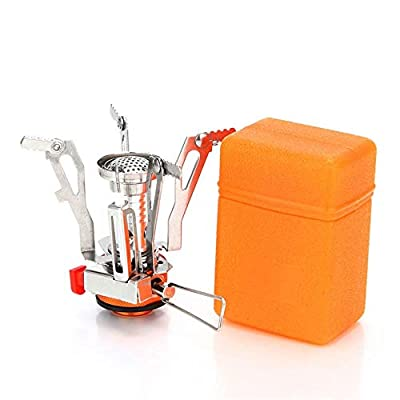 AOTU Portable Camping Stoves Backpacking Stove with Piezo Ignition ?Stable Support Wind-Resistance Camp Stove for Outdoor Camping Hiking Cooking