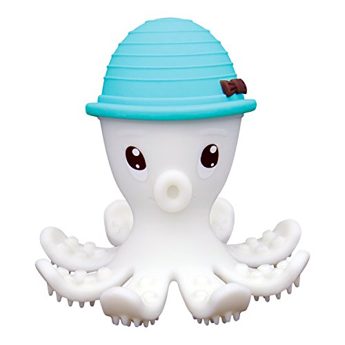 Mombella Octopus Teether Toy   Soft and Safe Silicone   Toothbrush and Gum Massager   BPA, Phthalate, PVC, Latex Free