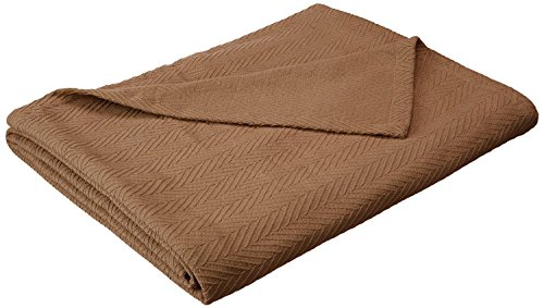- Superior 100% Cotton Thermal Blanket, Soft and Breathable Cotton for All Seasons, Bed Blanket and Oversized Throw Blanket with Metro Herringbone Weave Pattern - King Size, Taupe (Renewed)