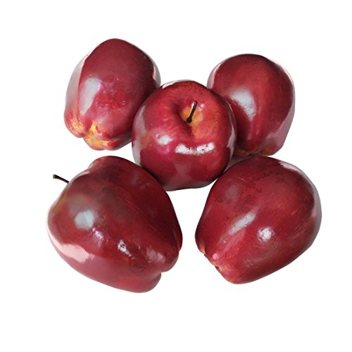 Lorigun Artificial Apples Fake Fruits Red Delicious Apples For Decoration, Decorative Fruit, Faux Big Red Apples 5 -