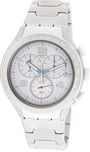 Swatch Men's Pure Attack YYS4024AG Silver Aluminum Swiss Quartz Fashion Watch