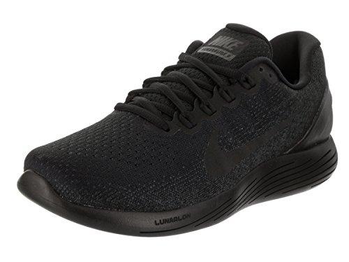 Mens Nike LunarGlide 9 Running Shoe Black/Anthracite/Volt Size 11.5 M US