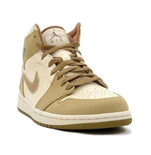 Nike Air Jordan 1 Retro Army Package Pearl White/Walnut Limited Edition Sneakers (9.5) (Jordan Air Nike Package)