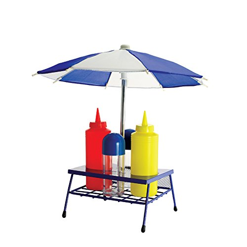 (Home Locomotion Umbrella BBQ Grill Condiment Set)