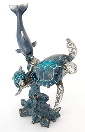 (Canton Imports Lacquer Finish Dolphin and Turtles)
