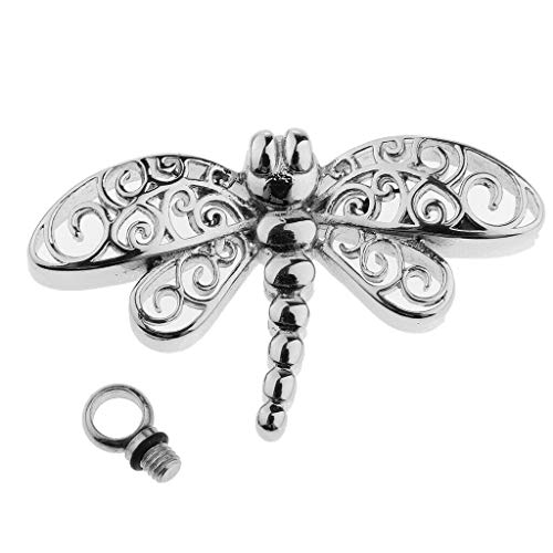 Dragonfly Shaped Pendant Pet Memorial Keepsake Urn Pendant for Ash and Hair Necklace Jewelry Crafting Key Chain Bracelet Pendants Accessories Best