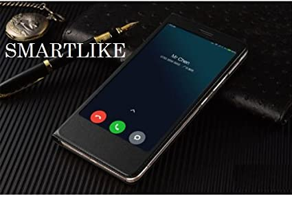 low priced ef5fd ebe9a SmartLike PU Leather Smart Flip Cover for Mi Max 2 Black
