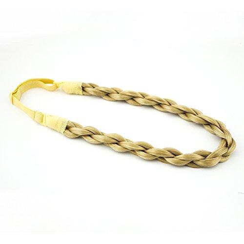 (MERRYLIGHT Synthetic Hair Braid Elastic Stretch Braided Hair Headband (Ash)