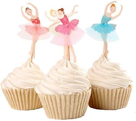 Amazing Yesoa 32 Piece Cake Topper Ballerina Birthday Cake Topper Party Birthday Cards Printable Opercafe Filternl