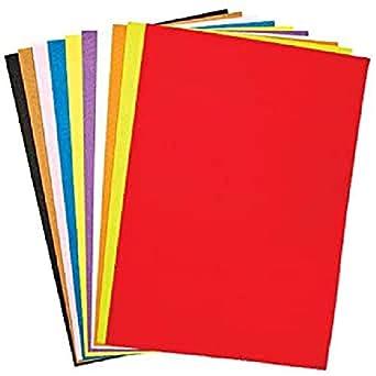 Baker Ross Pack Ahorro de Láminas de Fieltro A3 (Paquete de 1) Para tarjetas, collages y manualidades infantiles: Amazon.es: Industria, empresas y ciencia