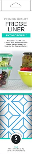 Mindfull Products Antimicrobial Fridge Shelf Liner, BPA Free, Cut to Fit, 13