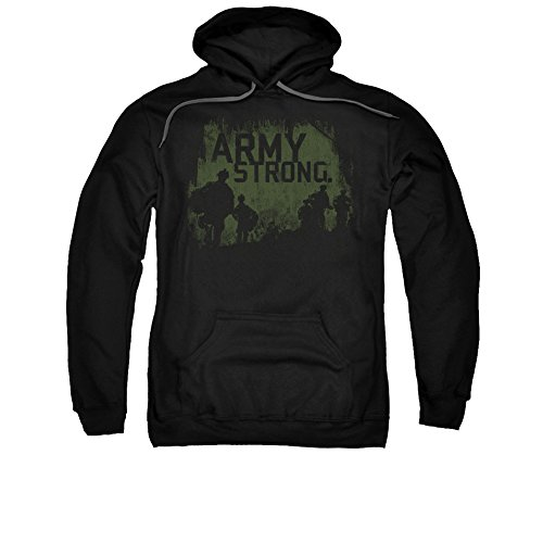 Army Soilders Shadows Army Strong Vintage Style Adult Pull-Over Hoodie