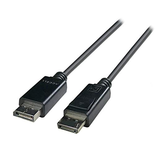Accell Hdmi A/v Cable - Accell DP to DP 1.4 - VESA-Certified DisplayPort 1.4 Cable - 6 Feet, HBR3, 8K @60Hz, 4K UHD @240Hz