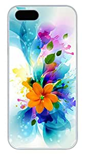 Abstract colorful flower art Thanksgiving Halloween Masterpiece Limited Design PC White Case for iphone 5/5S by Cases & Mousepads