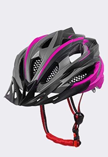 RONGW 自転車 ヘルメット 安全ヘルメット自転車サイクリング自転車サイクリングヘルメット超軽量EPSパソコンカバーマウンテンバイクロードバイクヘルメット一体モールドサイクリングヘルメットサイクリングキャップパープル55Cmx61Cm サイズ調整可能 男女兼用