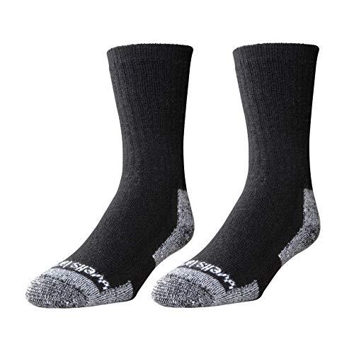 Wells Lamont Men's Wool Crew Socks, Shoe Sizes 13 to 15, 2 Pair Pack - Yarn Simply Socks