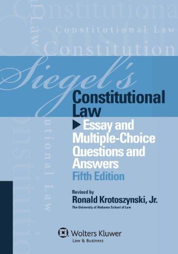 Pdf Law Siegels Constitutional Law: Essay Multi Choice Q & A, Fifth Edition